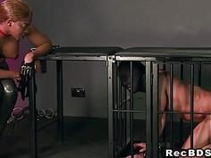 Busty ebony mistress interracial sex in dungeon