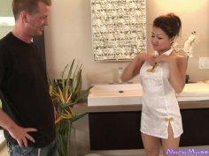 Footjob and fantastic Nuru massage from Jackie Lin