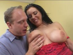 Titfucking and anal drilling gorgeous brunette Angelica Sin
