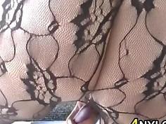 Chubby Girl In Lingerie Masturbates