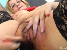 Ripe latex cock action with madam