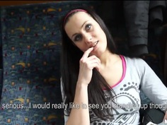 Mea Melone tells about herself and shows tits