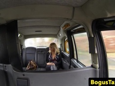 Bigtitted amateur sucking brit taxi cock pov
