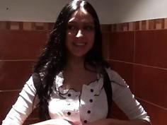 Wild nude fucking in public restroom xxx