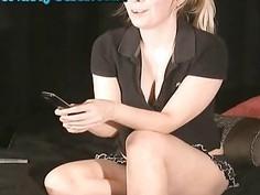 Hot Blonde Role Play Webcam Girl